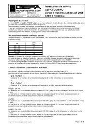 Instructions de service GEFA / DOMINO Vanne à matières solides ...