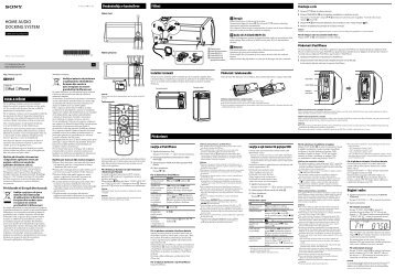 Sony RDH-GTK11iP - RDH-GTK11IP Istruzioni per l'uso Albanese