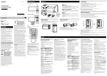 Sony RDH-GTK11iP - RDH-GTK11IP Istruzioni per l'uso Rumeno