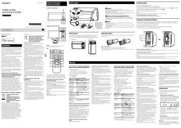 Sony RDH-GTK11iP - RDH-GTK11IP Istruzioni per l'uso Polacco
