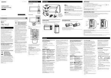 Sony RDH-GTK11iP - RDH-GTK11IP Istruzioni per l'uso Svedese