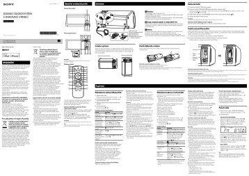 Sony RDH-GTK11iP - RDH-GTK11IP Istruzioni per l'uso Ceco