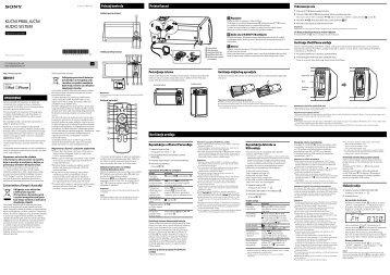 Sony RDH-GTK11iP - RDH-GTK11IP Istruzioni per l'uso Serbo