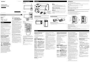 Sony RDH-GTK11iP - RDH-GTK11IP Istruzioni per l'uso Danese