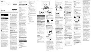 Sony SRS-BTV25 - SRS-BTV25 Istruzioni per l'uso Tedesco