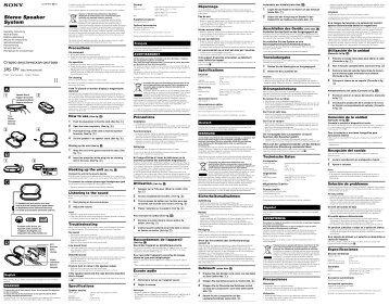Sony SRS-TP1 - SRS-TP1 Istruzioni per l'uso Inglese