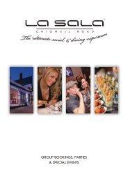 La Sala Chigwell Corporate Brochure