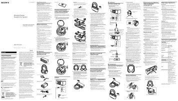 Sony MDR-RF4000K - MDR-RF4000K Istruzioni per l'uso Russo