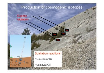 cosmogenic isotope dating
