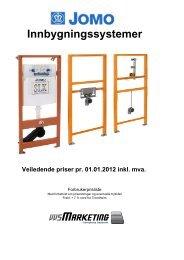 Innbygningssystemer Veiledende priser pr. 01.01.2012 inkl. mva.