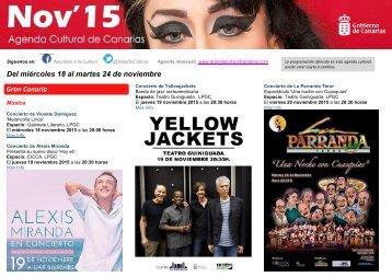 Del miércoles 18 al martes 24 de noviembre Gran Canaria