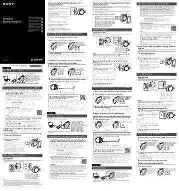 Sony MDR-10RBT - MDR-10RBT Guida di configurazione rapid Polacco