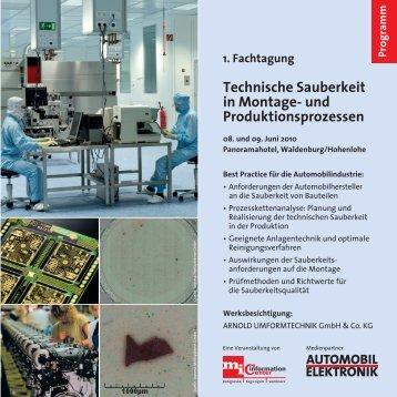 Technische Sauberkeit in Montage- und Produktionsprozessen