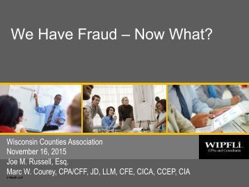 We Have Fraud – Now What?