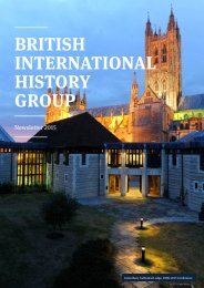 BRITISH INTERNATIONAL HISTORY GROUP