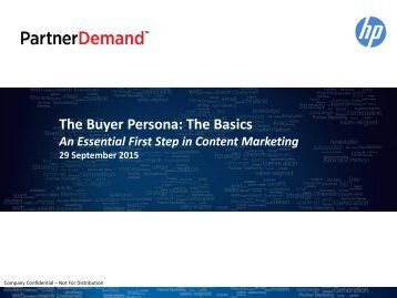 The Buyer Persona The Basics