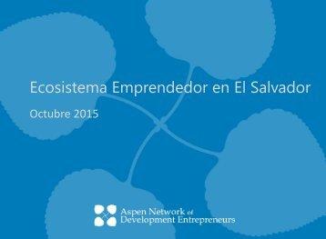 Ecosistema Emprendedor en El Salvador
