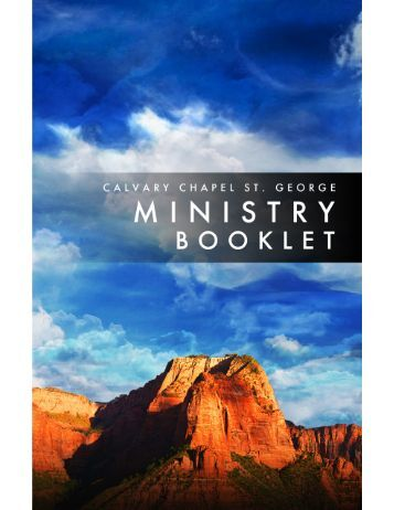 Ministry Booklet