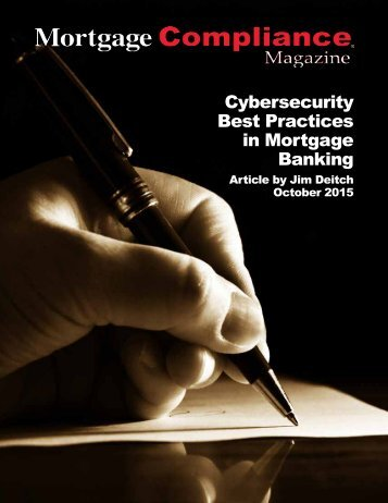 Cybersecurity Best Practices in Mortgage Banking