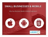 SMALL BUSINESSES & MOBILE