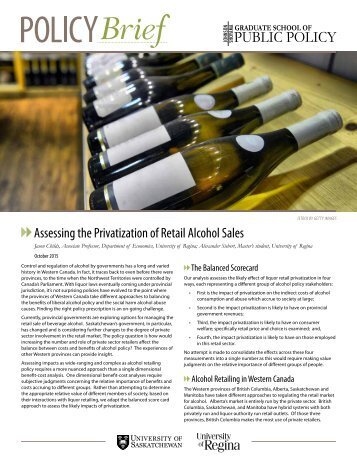 Assessing the Privatization of Retail Alcohol Sales