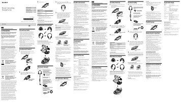 Sony MDR-NC40 - MDR-NC40 Istruzioni per l'uso Ceco