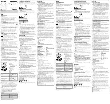 Sony MDR-NWBT10 - MDR-NWBT10 Istruzioni per l'uso Portoghese