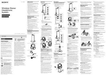 Sony MDR-RF865RK - MDR-RF865RK Istruzioni per l'uso Ungherese