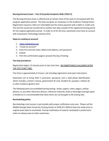 Hesi Av 2 Entrance Exam Instructions