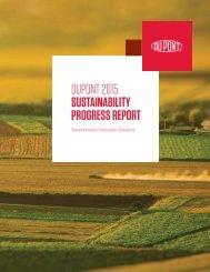 DUPONT 2015 SUSTAINABILITY PROGRESS REPORT
