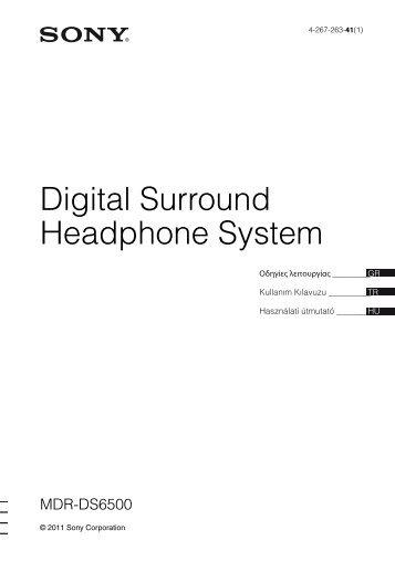 Sony MDR-DS6500 - MDR-DS6500 Istruzioni per l'uso Turco