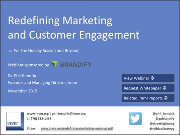 Redefining Marketing and Customer Engagement