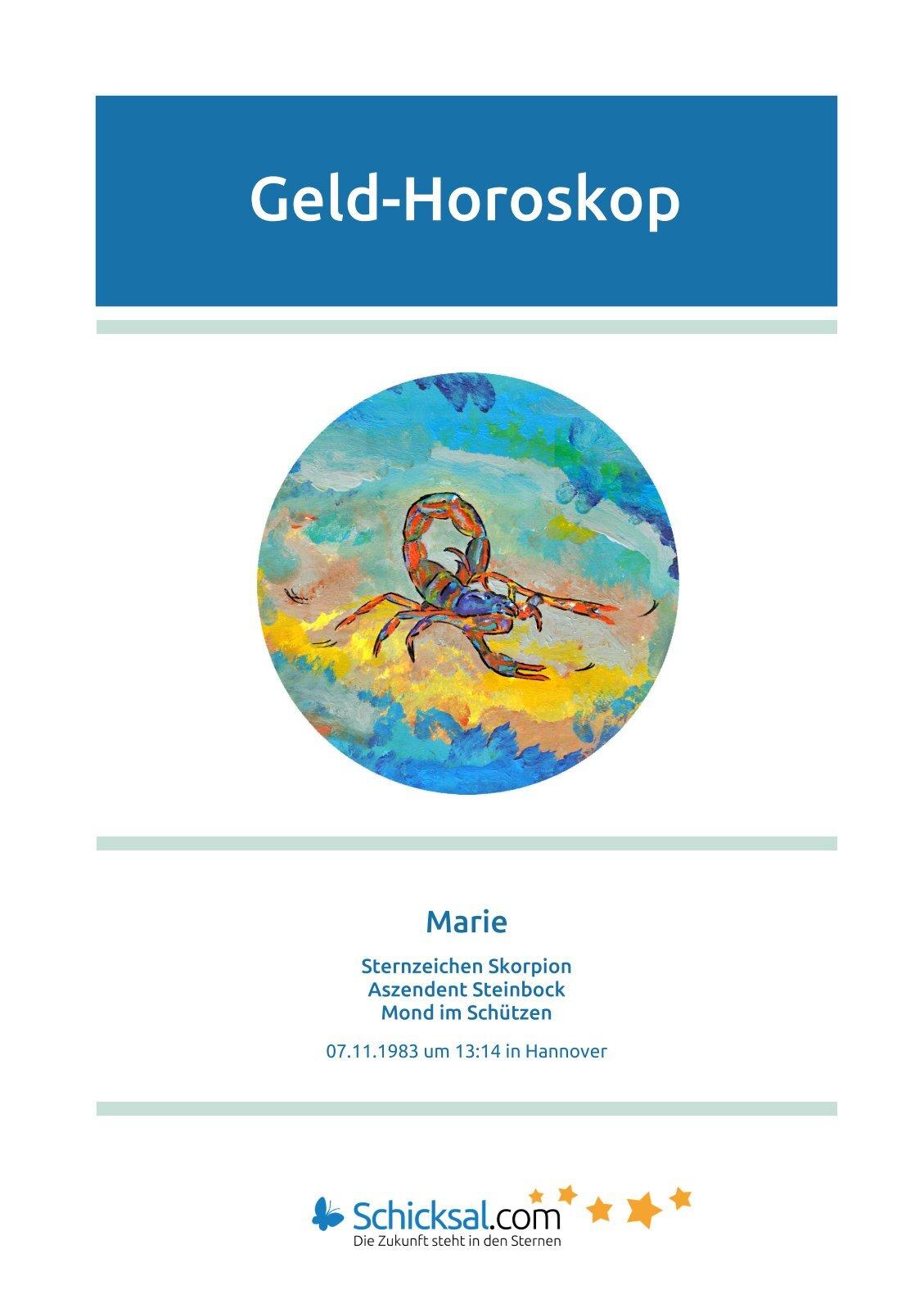Skorpion - Horoskop - Geld