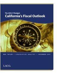California's Fiscal Outlook
