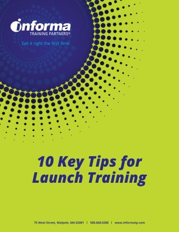 10 Key Tips for Launch Training