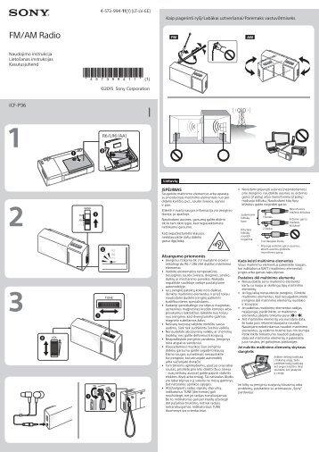 Sony ICF-P36 - ICF-P36 Istruzioni per l'uso Estone