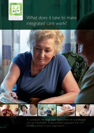 What does it take to make integrated care work?