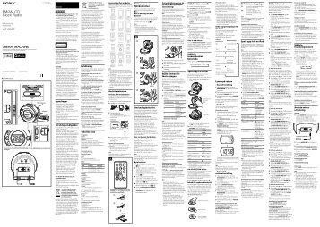 Sony ICF-CD3iP - ICF-CD3IP Istruzioni per l'uso Finlandese