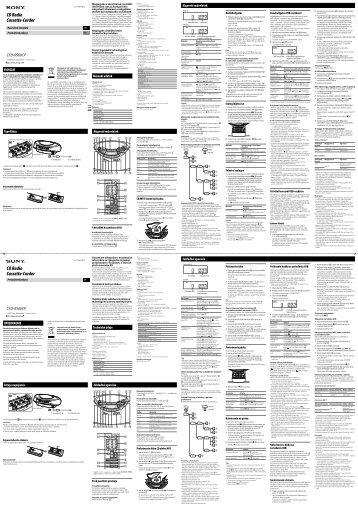 Sony CFD-RS60CP - CFD-RS60CP Istruzioni per l'uso Slovacco