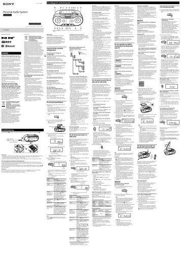 Sony ZS-RS70BTB - ZS-RS70BTB Istruzioni per l'uso Svedese