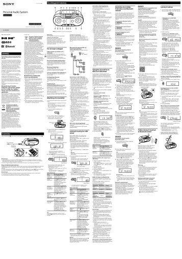 Sony ZS-RS70BTB - ZS-RS70BTB Istruzioni per l'uso Danese