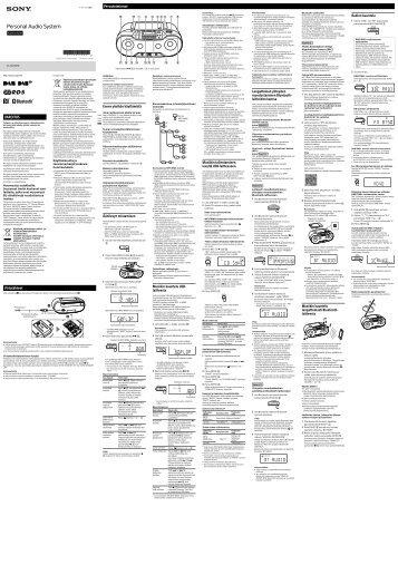 Sony ZS-RS70BTB - ZS-RS70BTB Istruzioni per l'uso Finlandese