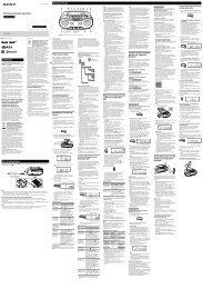 Sony ZS-RS70BTB - ZS-RS70BTB Istruzioni per l'uso Italiano