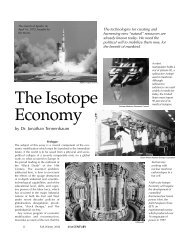 The Isotope Economy - 21st Century Science