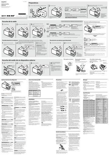 Sony XDR-S60DBP - XDR-S60DBP Istruzioni per l'uso Spagnolo
