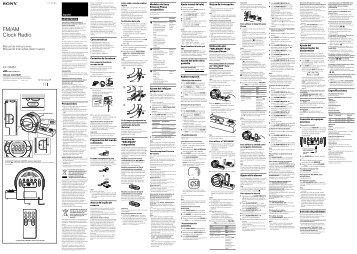 Sony ICF-C8WM - ICF-C8WM Istruzioni per l'uso Spagnolo