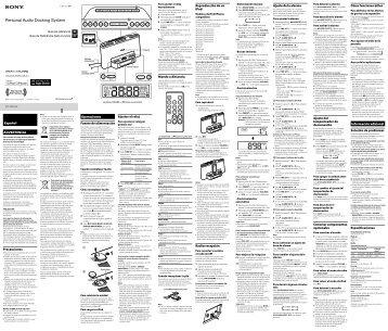 Sony ICF-DS15iP - ICF-DS15IP Istruzioni per l'uso Spagnolo