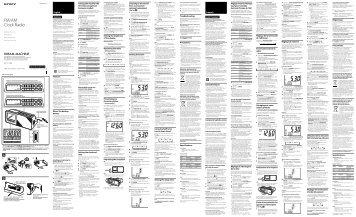 Sony ICF-C705 - ICF-C705 Istruzioni per l'uso Inglese