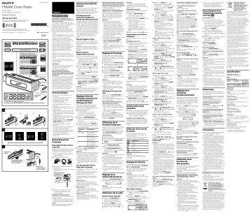 Sony ICF-C717PJ - ICF-C717PJ Istruzioni per l'uso Francese