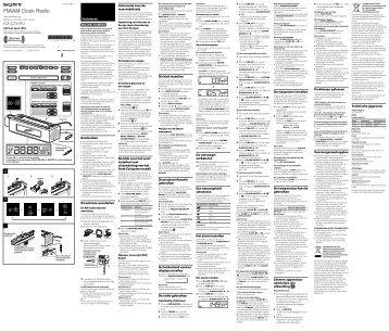 Sony ICF-C717PJ - ICF-C717PJ Istruzioni per l'uso Portoghese